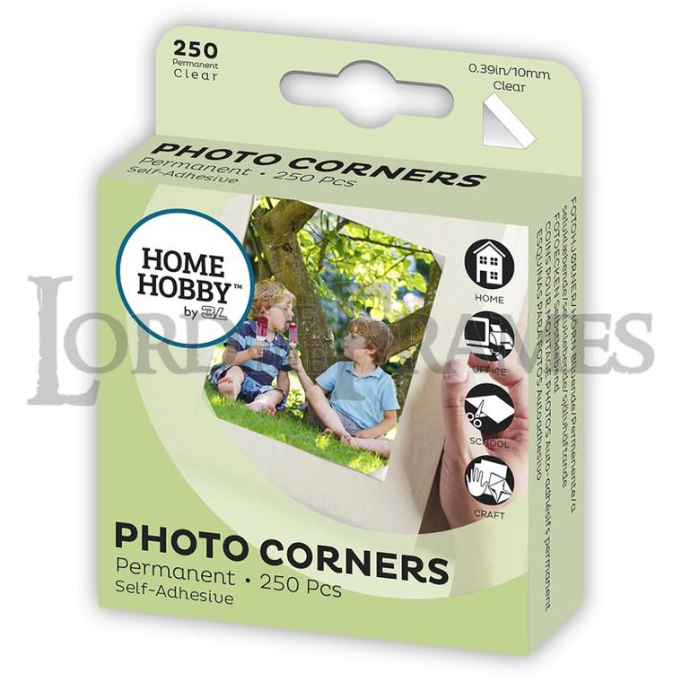 Photo Corners Clear 10mm 250 pcs