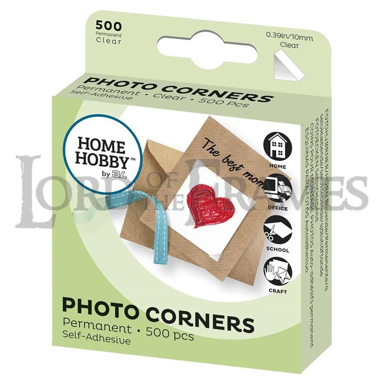 Photo Corners Clear 10mm 500 pcs