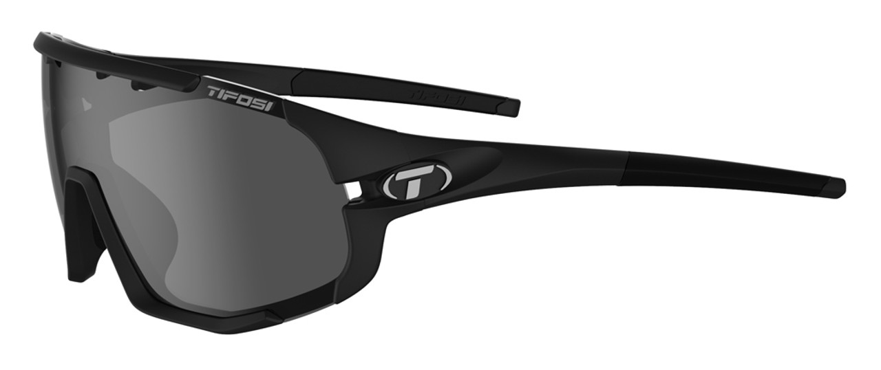 Matte Black w/ Smoke, AC Red, Clear - Tifosi Sledge Sunglasses