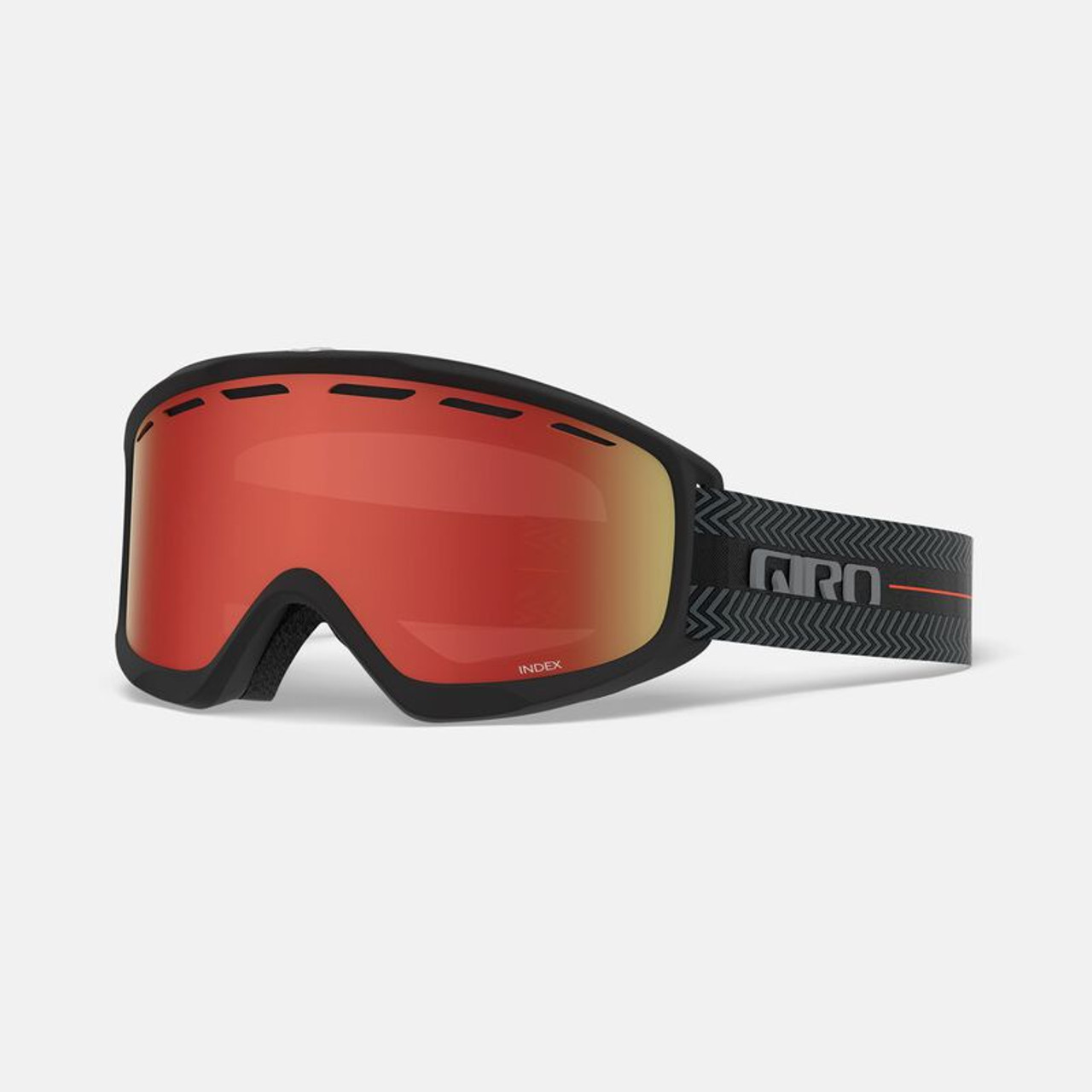 Giro Index Goggle Black Techline - Amber Scarlet