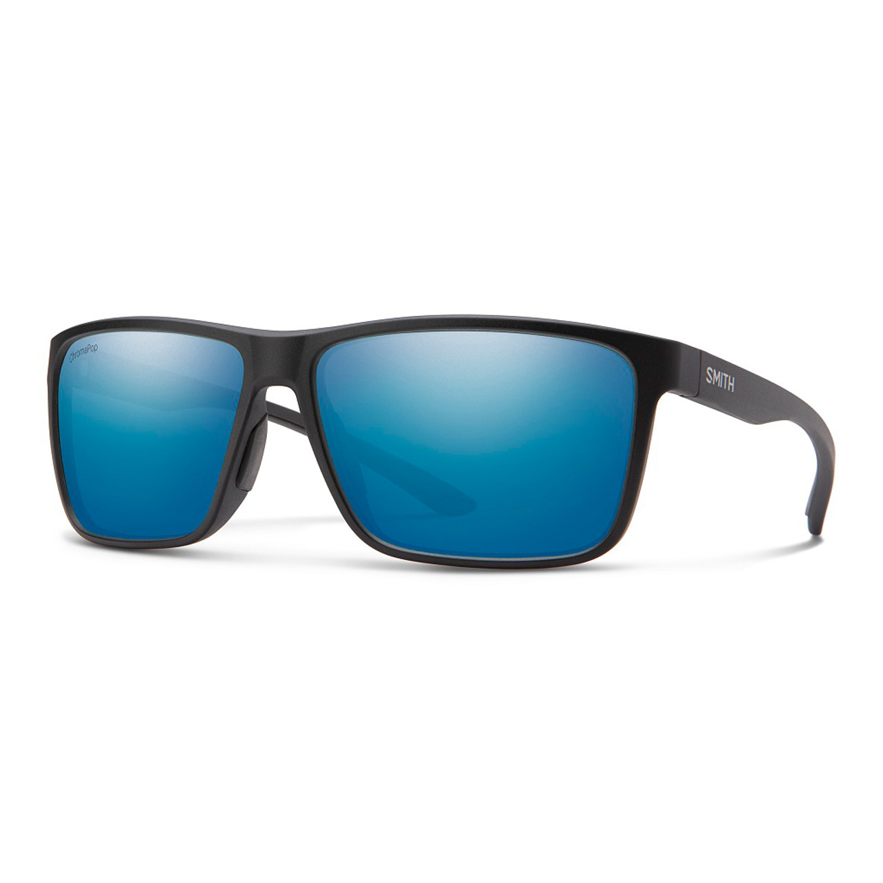 Matte Black w/ ChromaPop Glass Polarized Blue Mirror - Smith Riptide Sunglasses