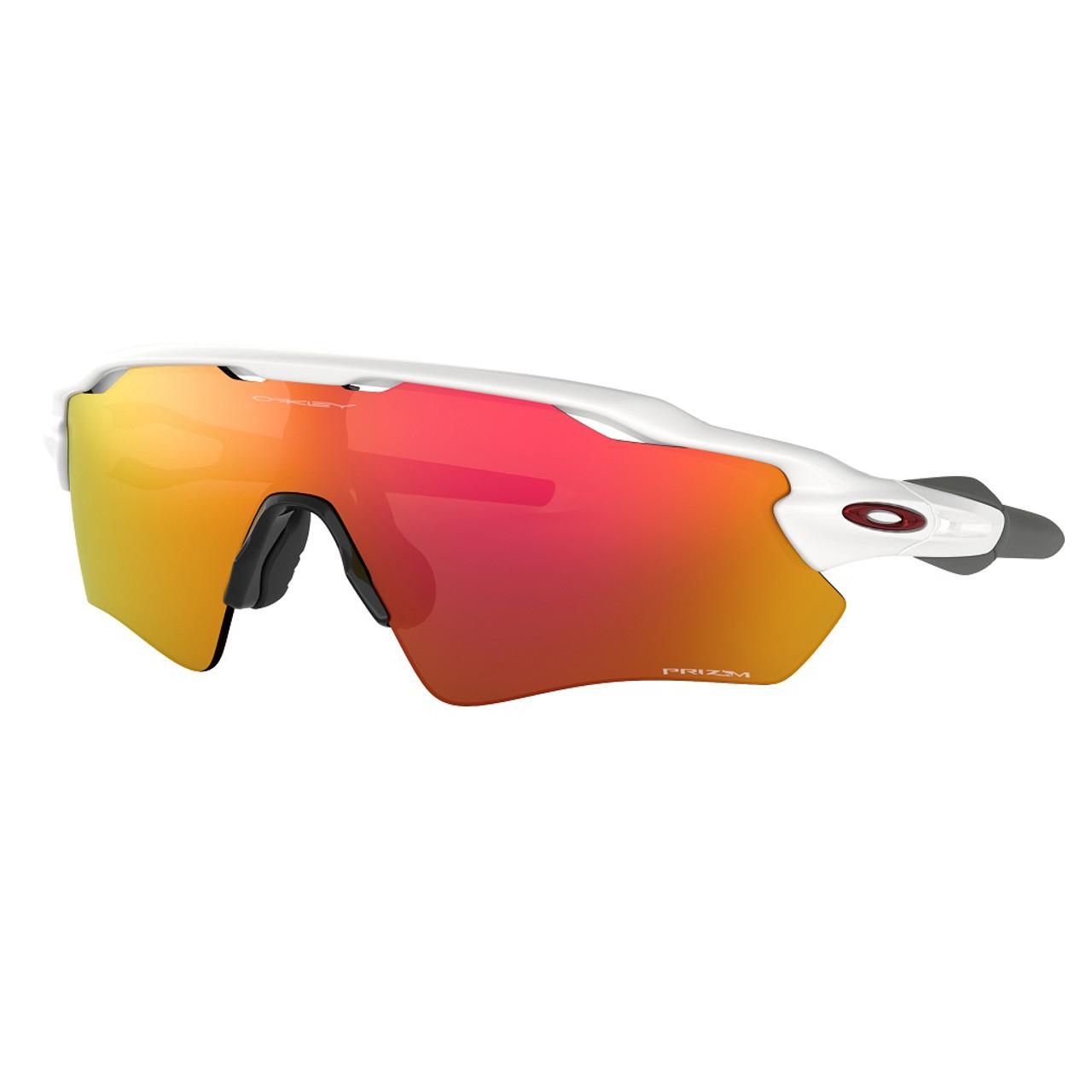 Polished White w/ Prizm Ruby - Oakley Radar EV Path Sunglasses