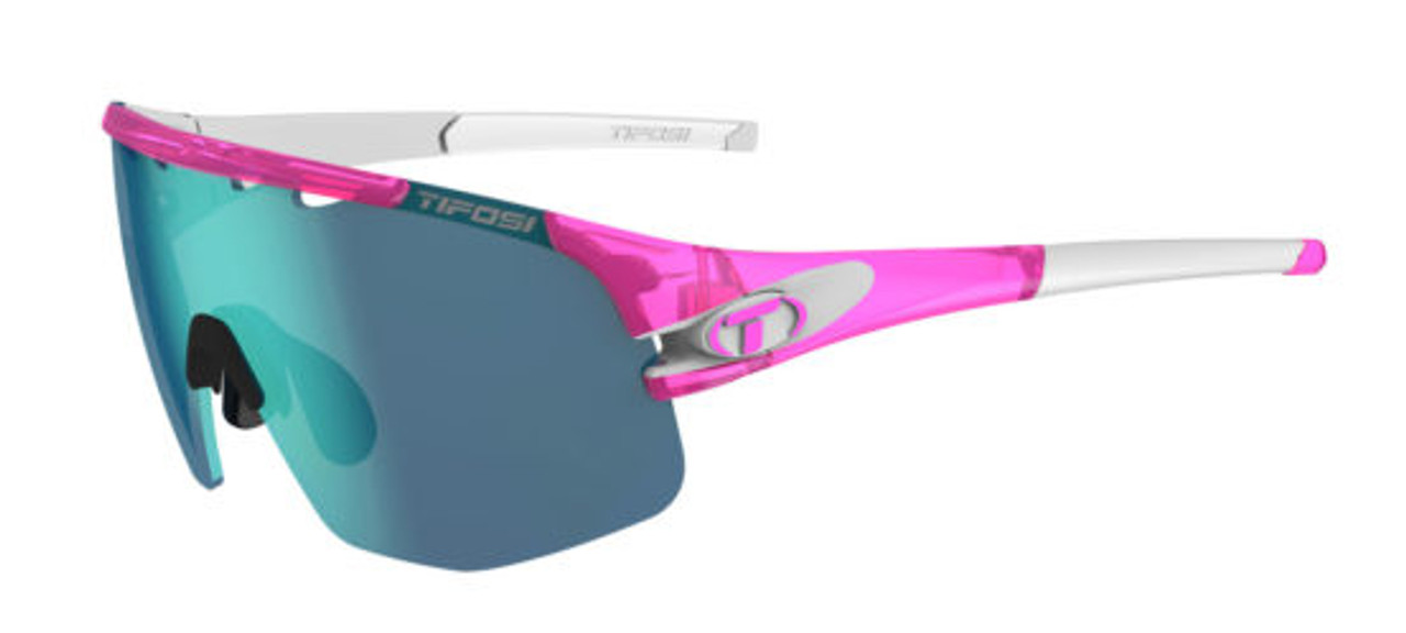 Crystal Pink w/ Clarion Blue, AC Red, Clear - Tifosi Sledge Sunglasses