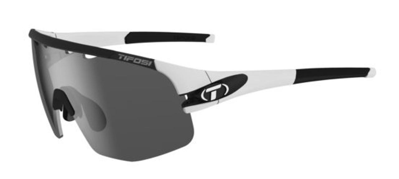 Matte White w/ Smoke, AC Red, Clear - Tifosi Sledge Sunglasses