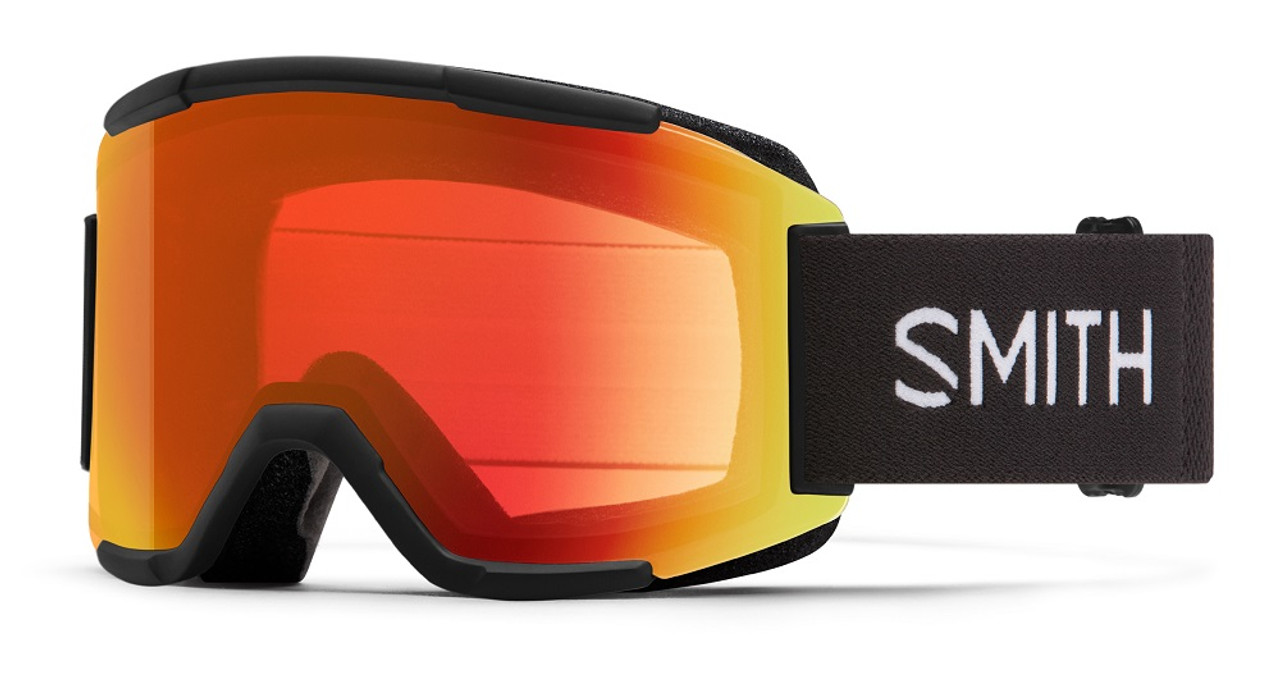Black w/ Chromapop Everyday Red Mirror - Smith Squad Goggles