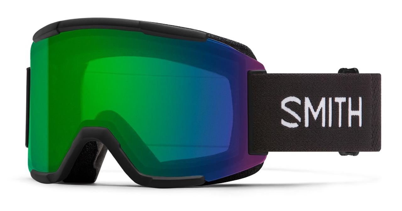 Black w/ Chromapop Everyday Green Mirror - Smith Squad Goggles