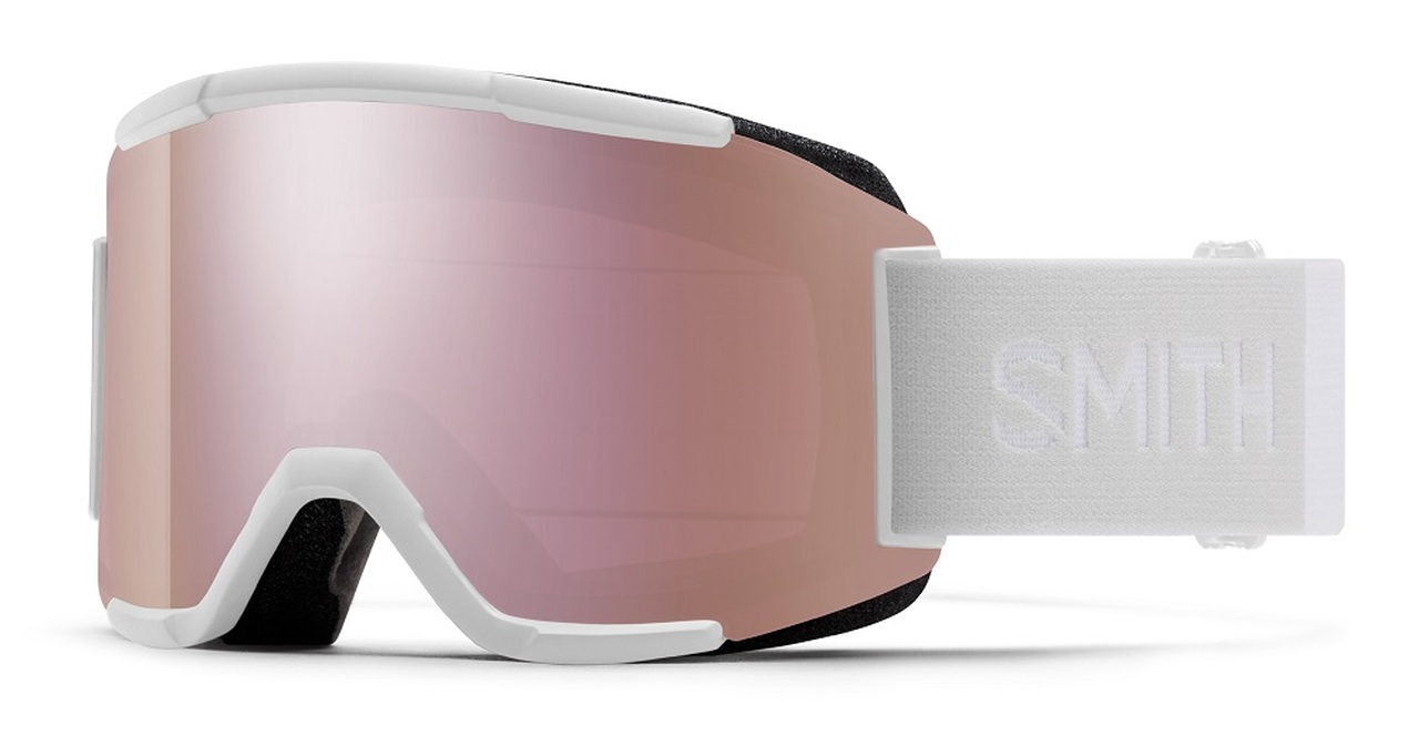 White Vapor w/ Chromapop Everyday Rose Gold - Smith Squad Goggles
