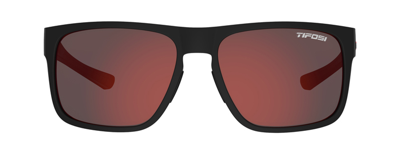 Satin Black/Crimson w/ Smoke Red - Tifosi Swick Sunglasses