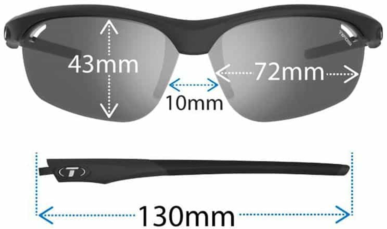 Tifosi Optics Veloce Reader Sunglasses fit
