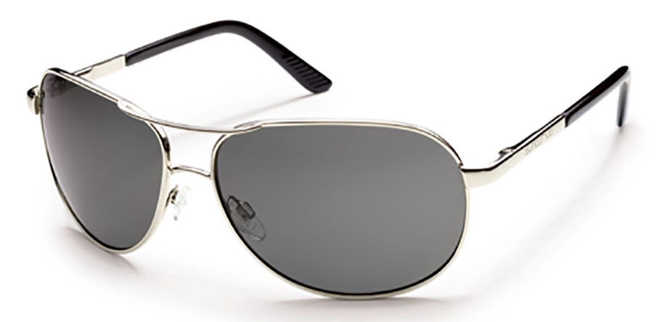 SunCloud Aviator Silver Polarized Sunglasses