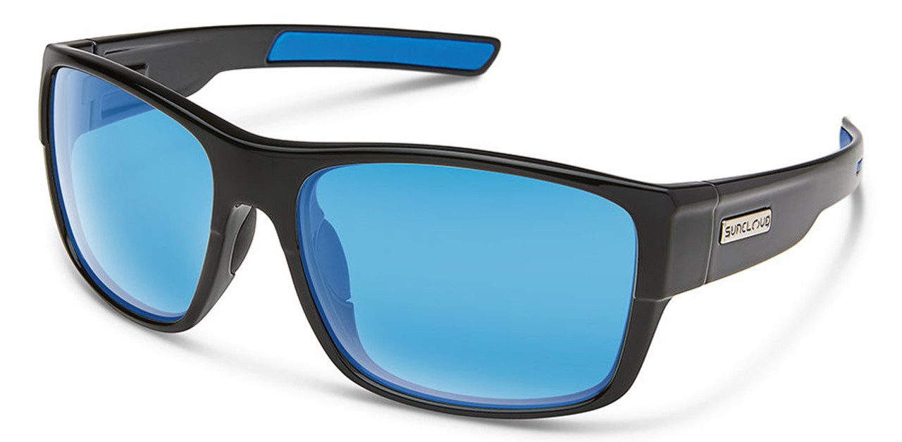 SunCloud Range Black Polarized Blue Mirror Sunglasses