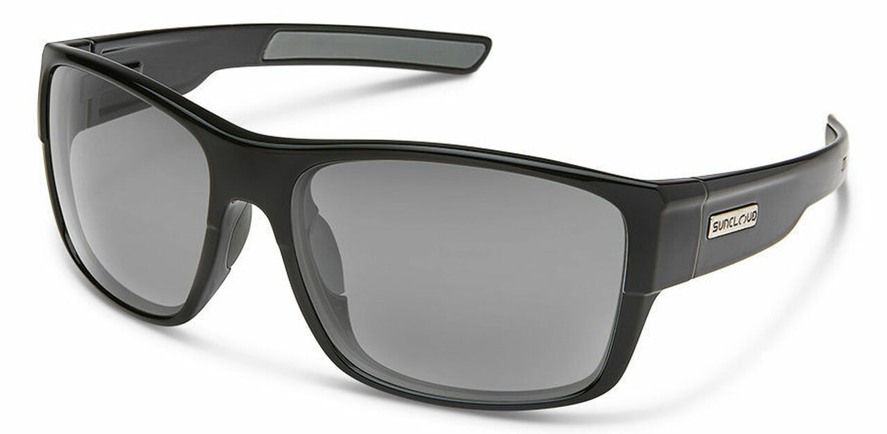 SunCloud Range Black Polarized Gray Mirror Sunglasses