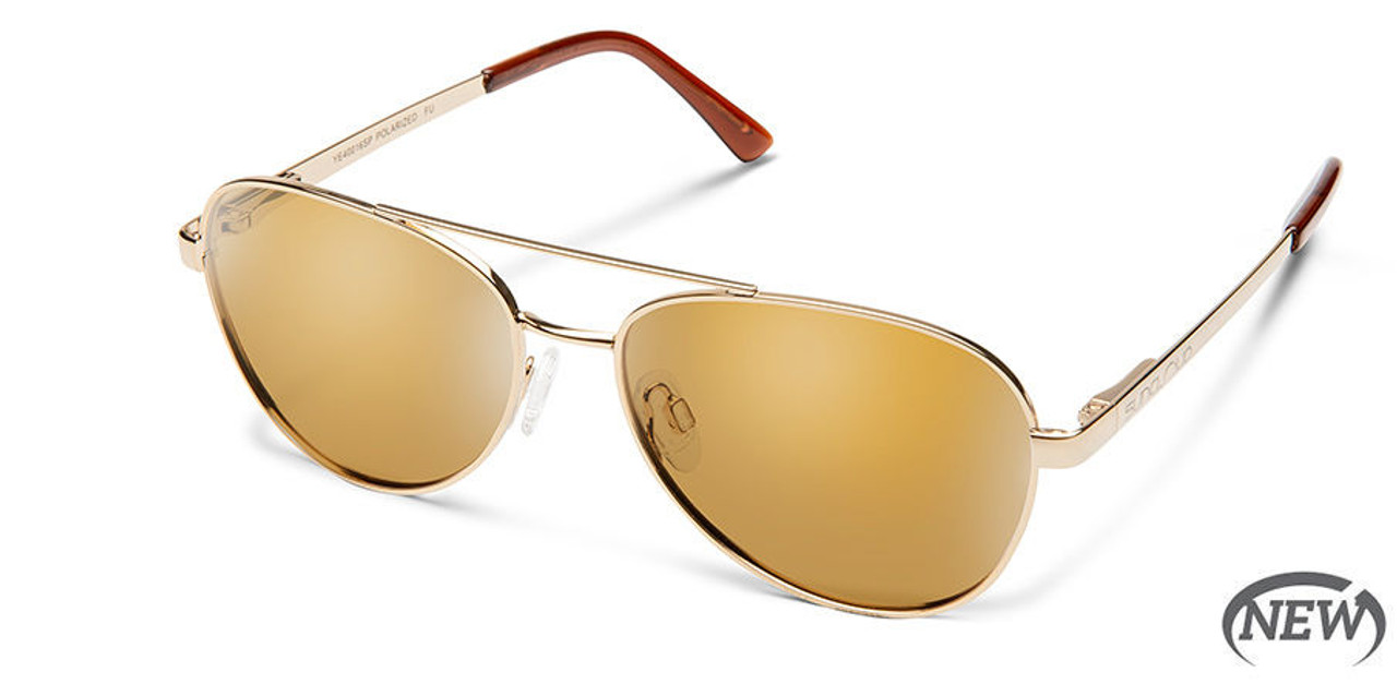 SunCloud Callsign Gold Polarized Sienna Sunglasses
