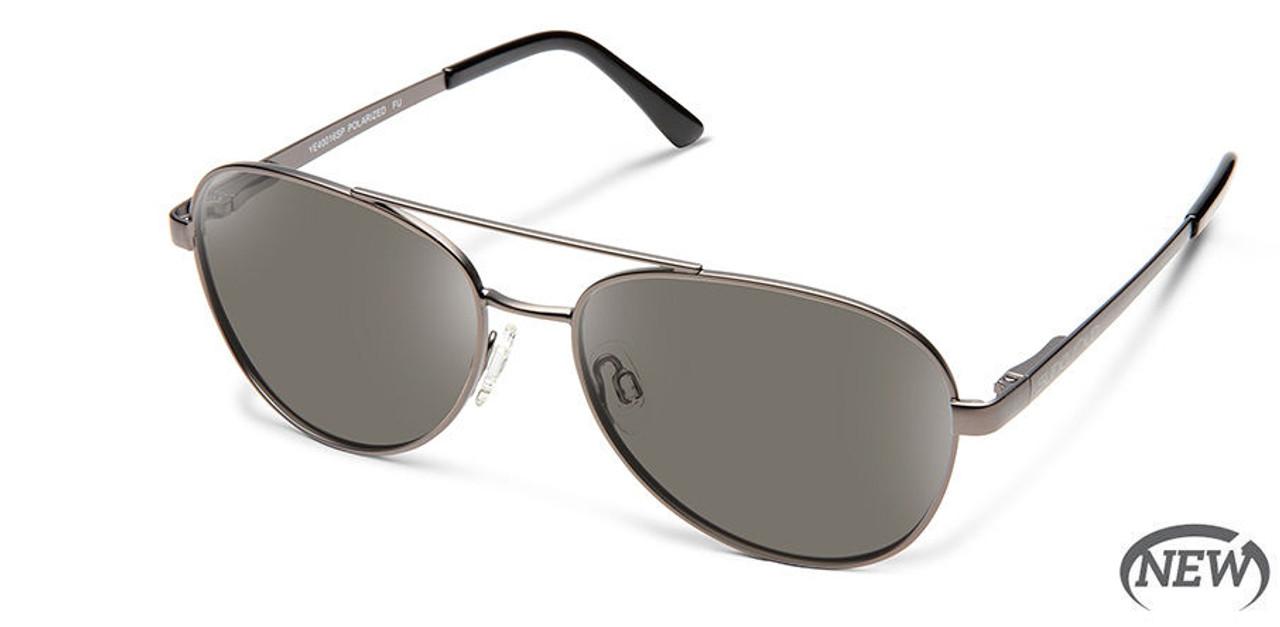 SunCloud Callsign Gunmetal Polarized Gray Sunglasses