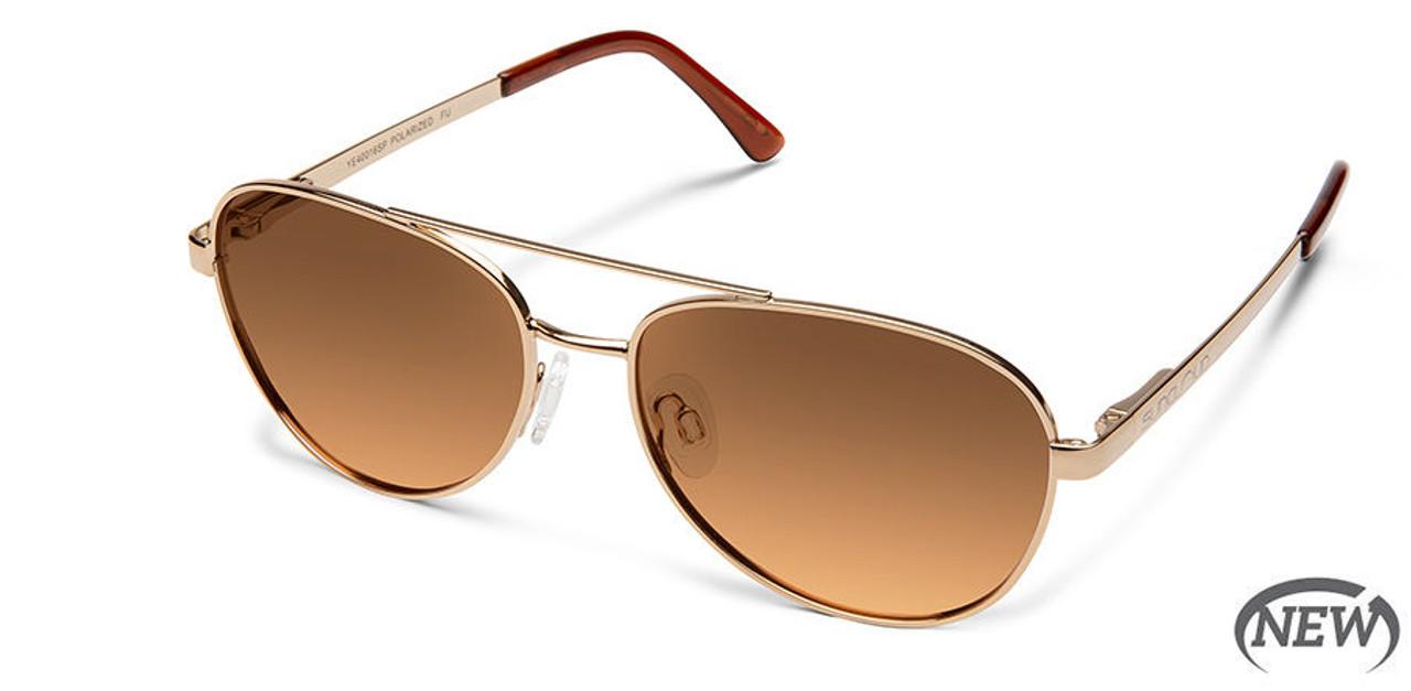 SunCloud Callsign Rose Gold Polarized Brown Gradient Sunglasses