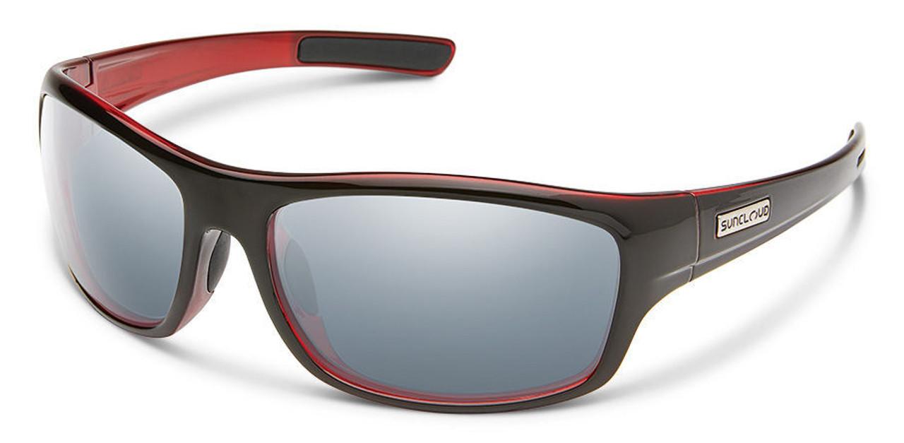 SunCloud Cover Black Red Polarized Sunglasses