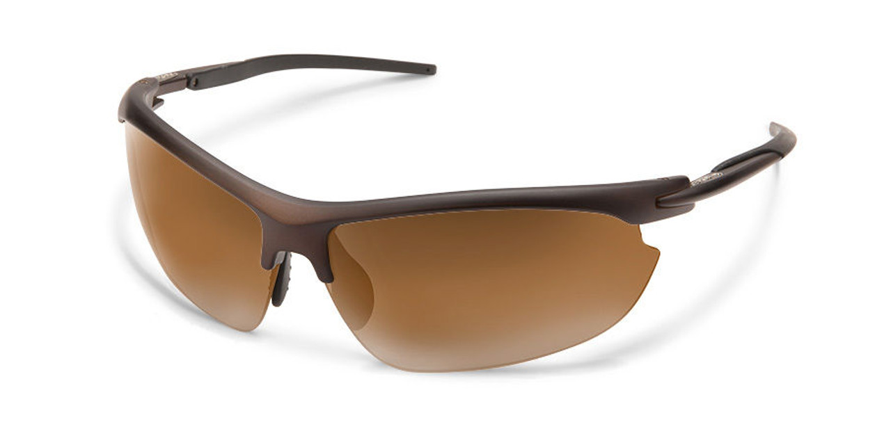 SunCloud Slant Sunglasses Matte Brown Polarized