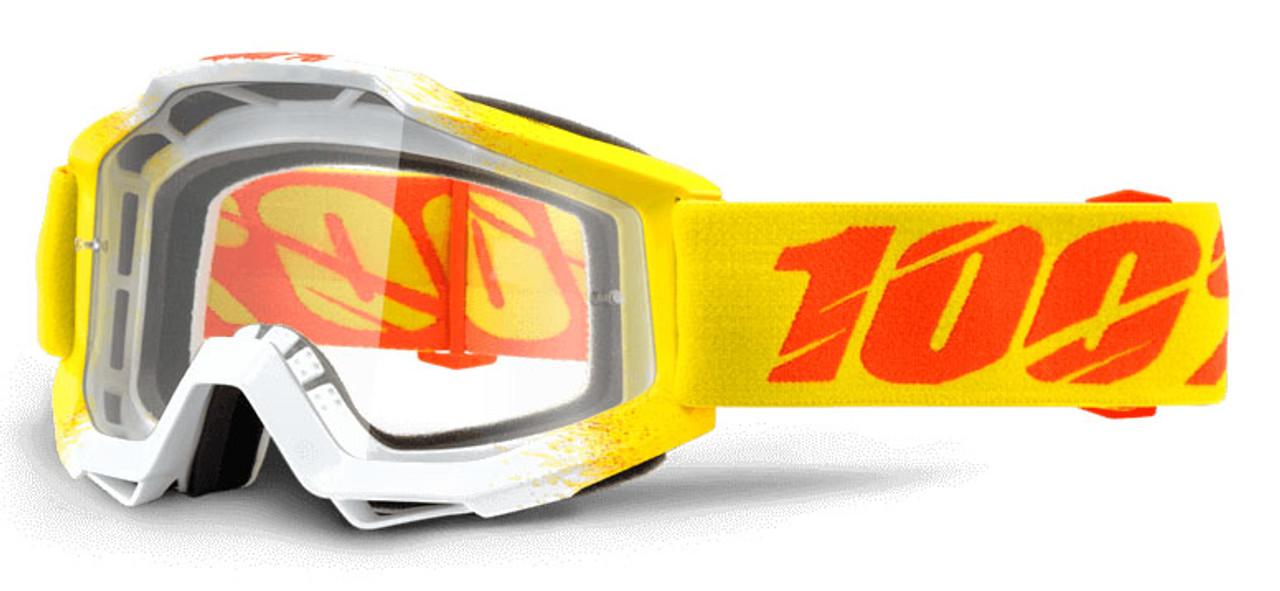 Ride 100% Accuri Moto Zest Goggle Clear Lens