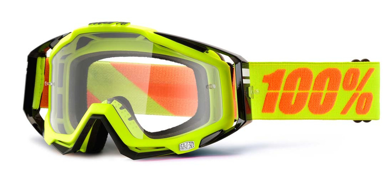 Ride 100% Racecraft Moto Neon Sign Goggle Clear Lens