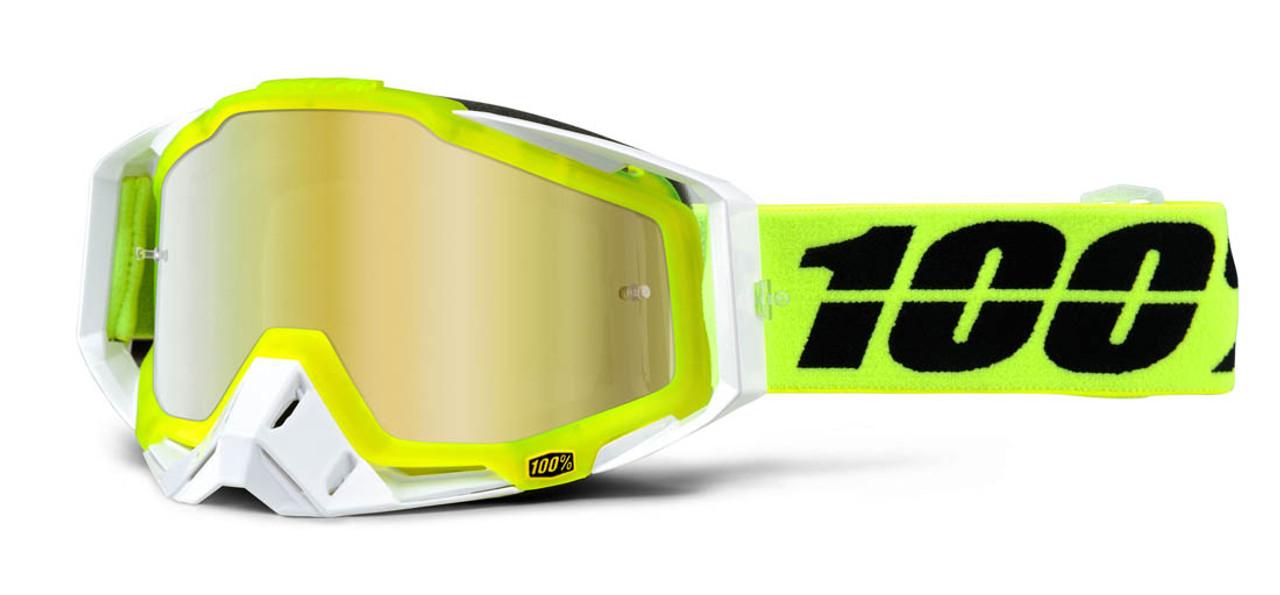 Ride 100% Racecraft Moto Solar Goggle Mirror Gold Lens