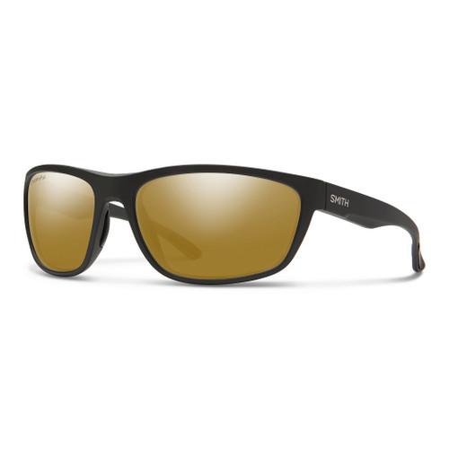 Matte Black w/ ChromaPop Glass Polarized Bronze Mirror - Smith Redding Sunglasses
