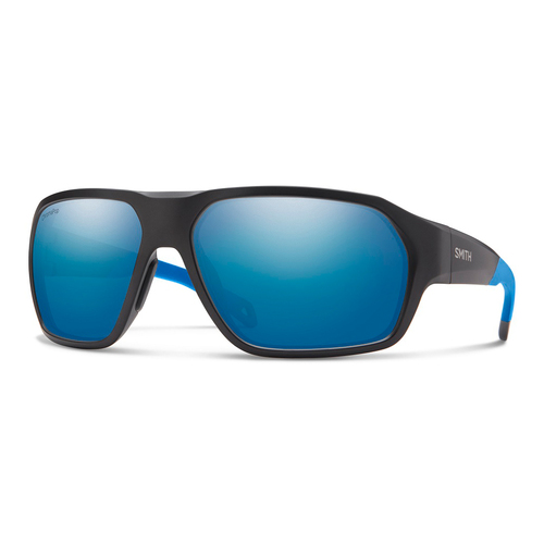 Matte Black Blue w/ ChromaPop Polarized Blue Mirror - Smith Deckboss Sunglasses