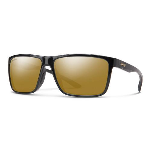 Black w/ ChromaPop Glass Polarized Bronze Mirror - Smith Riptide Sunglasses