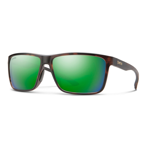 Matte Tortoise w/ ChromaPop Glass Polarized Green Mirror - Smith Riptide Sunglasses