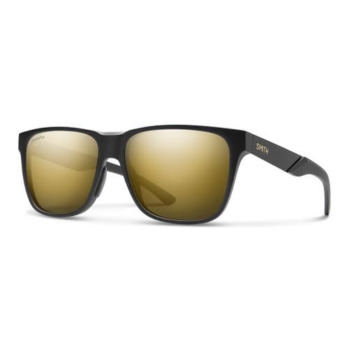Matte Black Gold w/ ChromaPop Polarized Black Gold - Smith Lowdown Steel Sunglasses