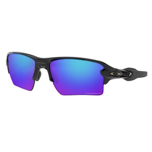 Polished Black w/ Prizm Sapphire Polarized - Oakley Flak 2.0 Sunglasses