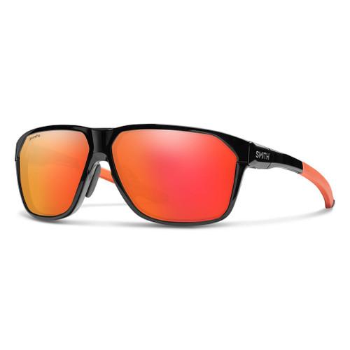 Matte Black Cinder w/ Chromapop Red Mirror - Smith Leadout Pivlock Sunglasses