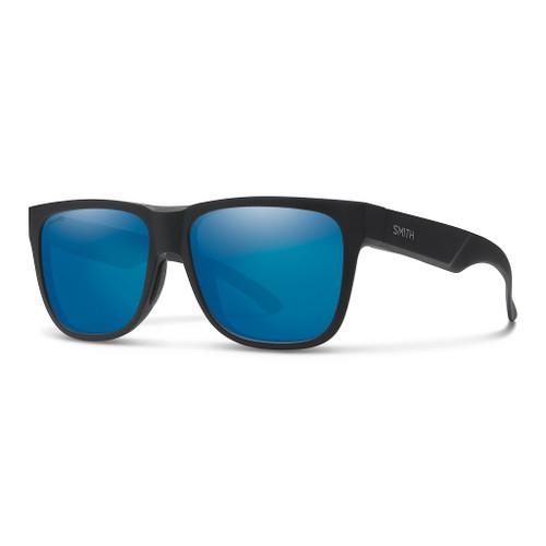 Matte Black w/ ChromaPop Polarized Blue Mirror - Smith Lowdown 2 Sunglasses