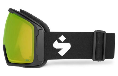 Sweet Clockwork MAX Matte Black Ski Goggles Side