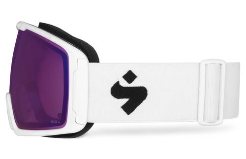 Sweet Clockwork Satin White Ski Goggles Side