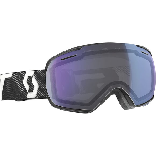 Scott Linx White Black Snow Goggle Illuminator Blue