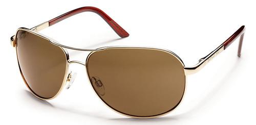 SunCloud Aviator Gold Polarized Sunglasses