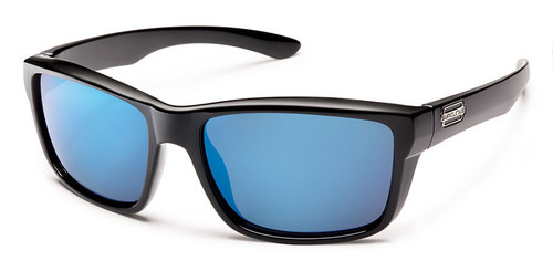 Suncloud Mayor Black Blue Mirror Polarized Sunglasses