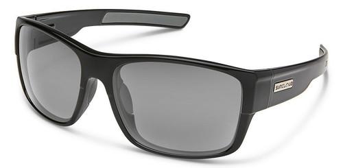SunCloud Range Black Polarized Gray Mirror Sunglasses