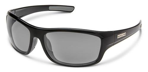 SunCloud Cover Black Polarized Sunglasses