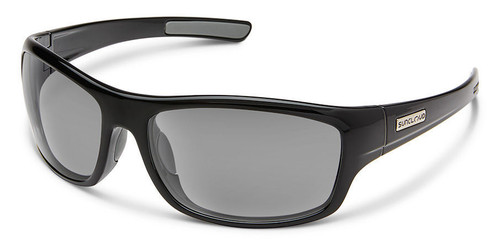 SunCloud Cover Black Polarized Sunglasses