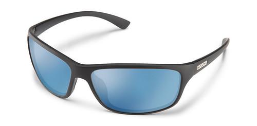 SunCloud Sentry Matte Black Polarized Blue Mirror Sunglasses