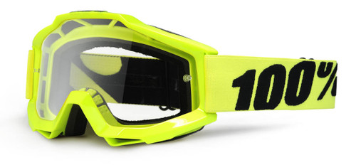 Ride 100% Accuri Moto Fluo Yellow Goggle Clear Lens