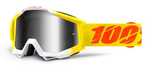 Ride 100% Accuri Moto Zest Goggle Silver Mirror Lens