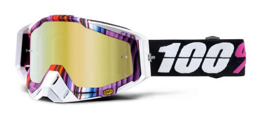 Ride 100% Racecraft Moto Glitch Goggle Mirror Gold Lens