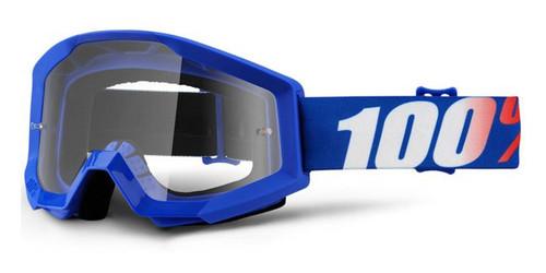 Ride 100% Strata Moto Nation Goggle Clear Lens