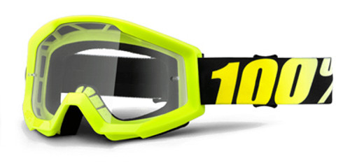Ride 100% Strata JR Neon Yellow Goggle with Clear Lens
