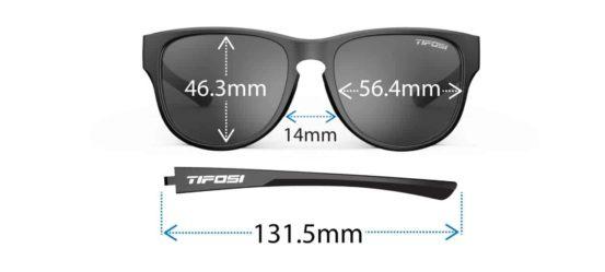 Tifosi Smoove Sunglasses dimensions