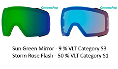 chromapop Sun Green Mirror & Rose Flash