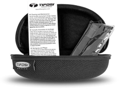 Tifosi included case and microfiber cloth