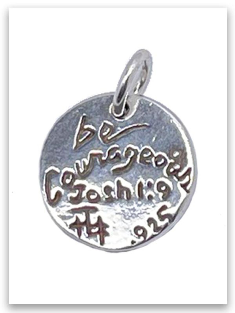 Be Courageous Joshua 1:9 Charm (back)